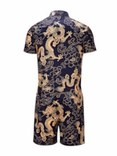 Floral Print Shirt Casual Summer Men's Outfit