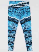 Blue Wave Print High Waist Women's Leggings