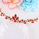 Red Ethnic E-Plating Earrings Wedding Jewelry Sets