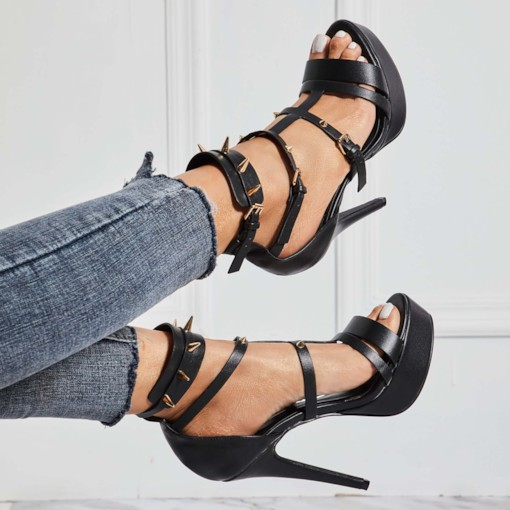 Open Toe Slingback Strap Buckle Stiletto Heel Sexy Sandals