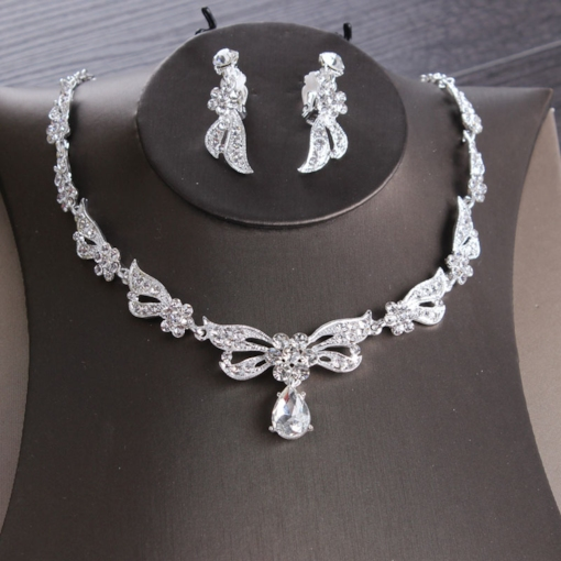 Earrings Necklace Korean Floral Necklace Wedding Jewelry Sets