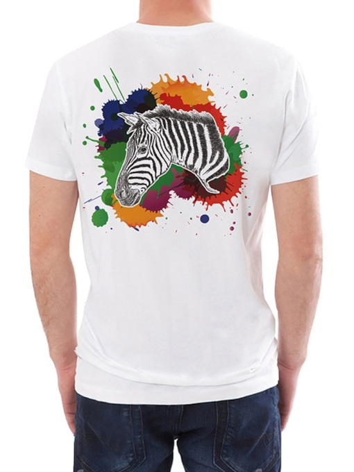 Print Casual Round Neck Animal Loose Men's T-shirt