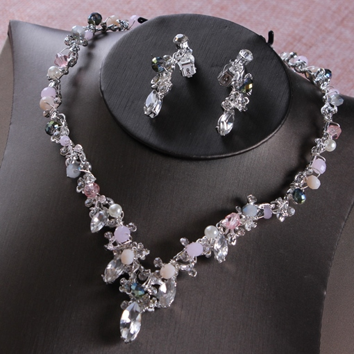 E-Plating Necklace Korean Jewelry Sets (Wedding)