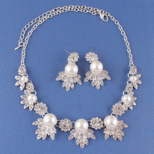 Earrings Floral Korean Wedding Jewelry Sets