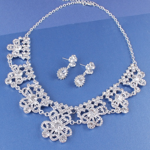 Necklace E-Plating European Jewelry Sets (Wedding)