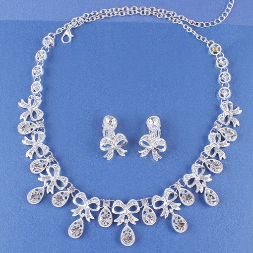 Polka Dots Necklace E-Plating Wedding Jewelry Sets