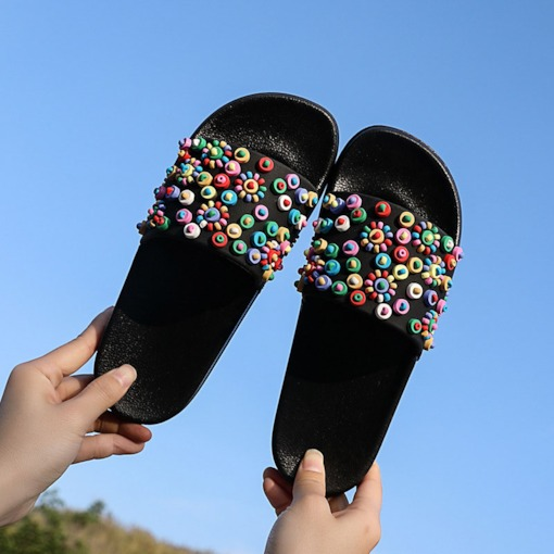 Candy Color Slip-On Summer Women's Slippers