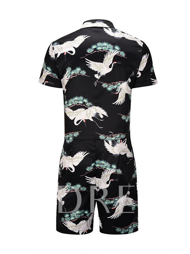 Animal Casual Pocket Shirt Summer Men's Outfit