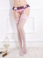 Bowknot Color Block Lace Garters(without Thong and Stocking)