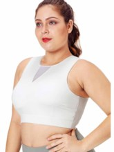 Women's Plus Size Polyester Pullover Sleeveless Sports Vest