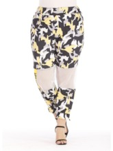 Women's Plus Size Color Block Sports Pants