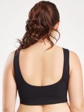 Women's Plus Size Plain Non-Adjusted Straps Sports Bra