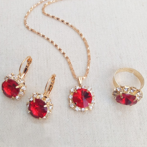 E-Plating Floral European Jewelry Sets (Wedding)