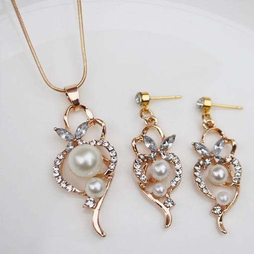Necklace Earrings Floral Wedding Jewelry Sets