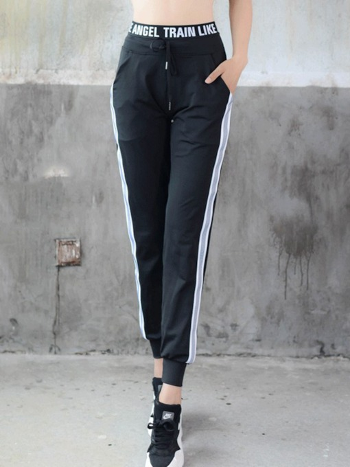Women's Plus Size Pockets Color Block Sports Pants