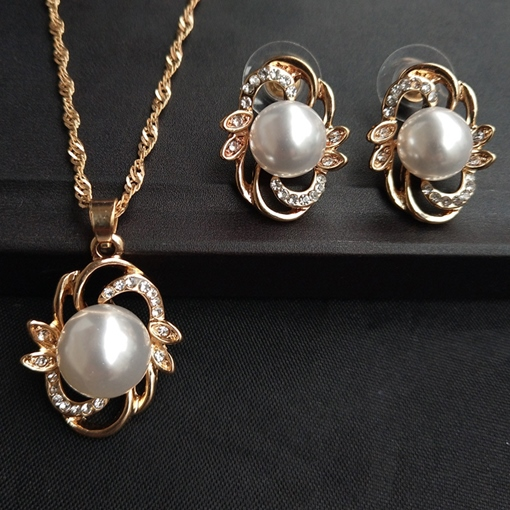 European Floral E-Plating Jewelry Sets (Wedding)