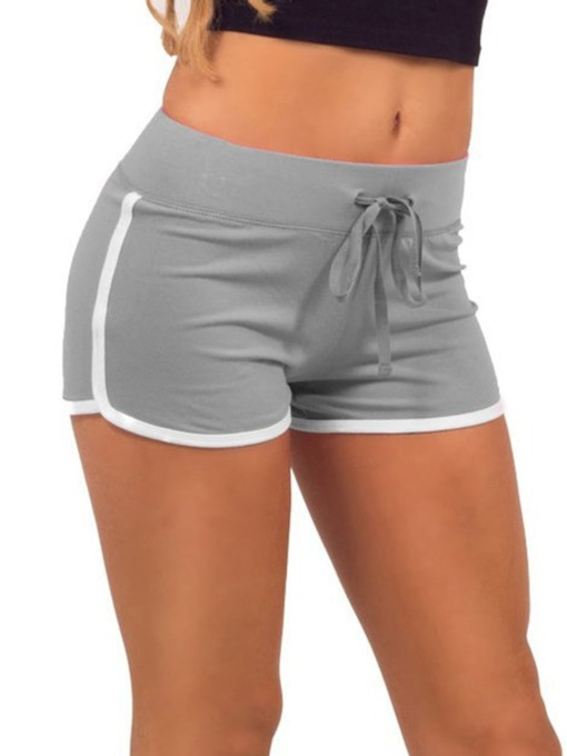 Plus Size Stripe Sports Women's Shorts