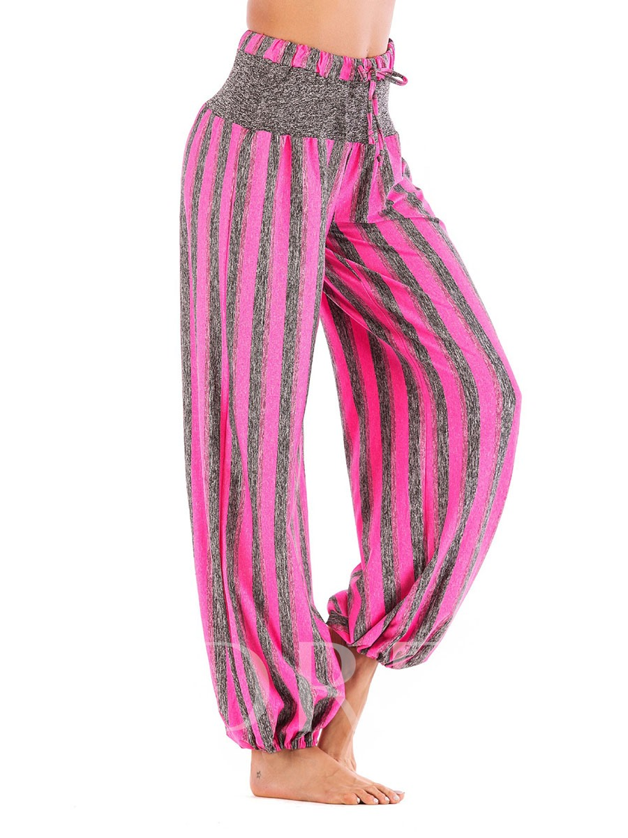 Plus Size Stripe Loose Women's Yoga Pants