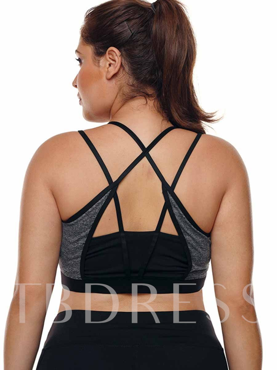 Women's Plus Size Polyester Free Wire Full Cup Sports Bra