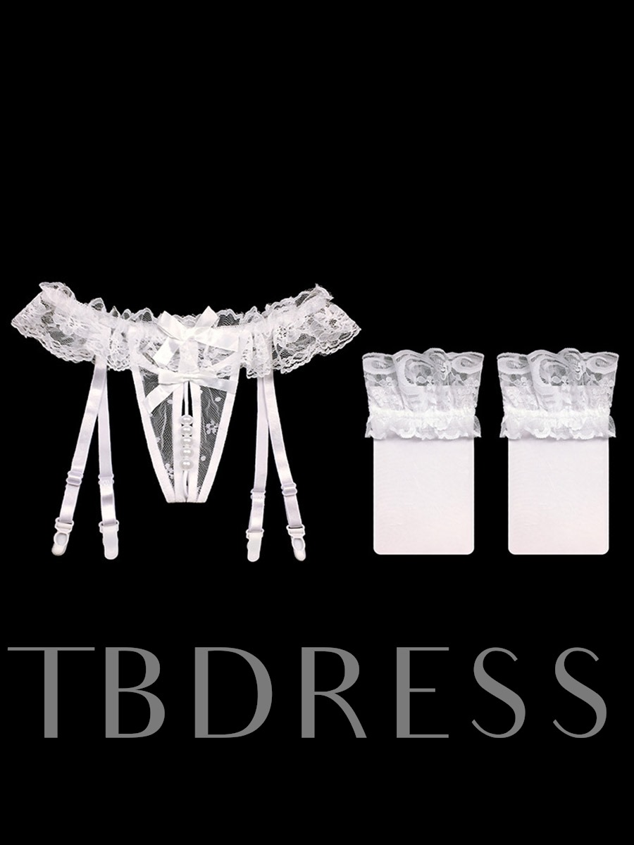 Plain See-Through Stocking Lace Garters Panty