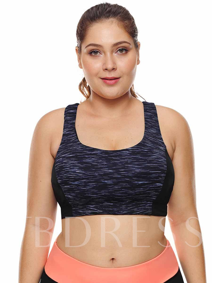 Women's Plus Size Free Wire Polyester Full Cup Sports Bra