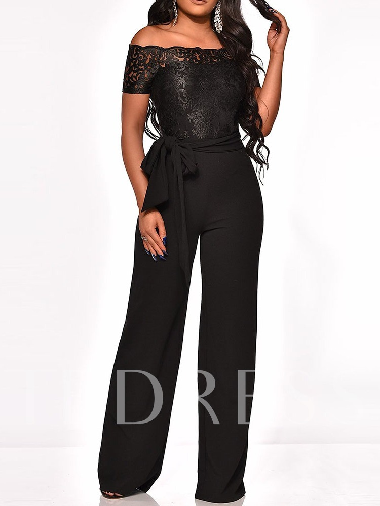 Western Full Length Plain Embroidery Slim Women's Jumpsuit
