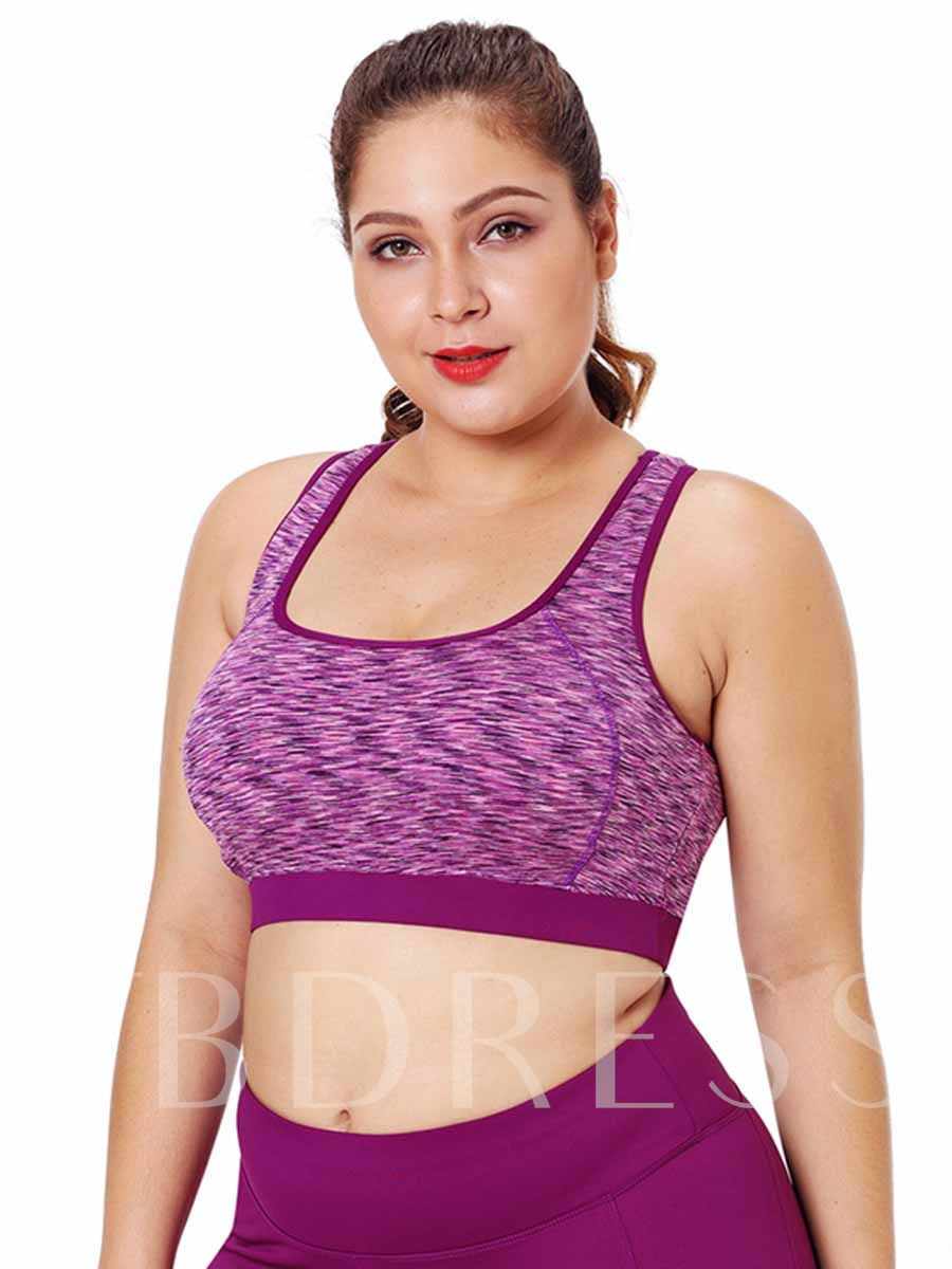 Women's Plus Size Non-Adjusted Straps Full Cup Sports Bra