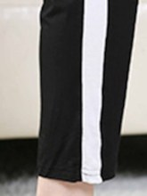 Women's Plus Size Stripe Cotton Sports Pants