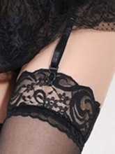 Bowknot Color Block Patchwork Lace Garters withourt Stockings