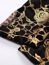 Fashion Luxury Gold Print Button Notched Lapel Casual Straigh Stlim Fit Men's Blazer