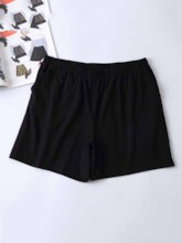 Women's Plus Size Polyester Pockets Sports Shorts
