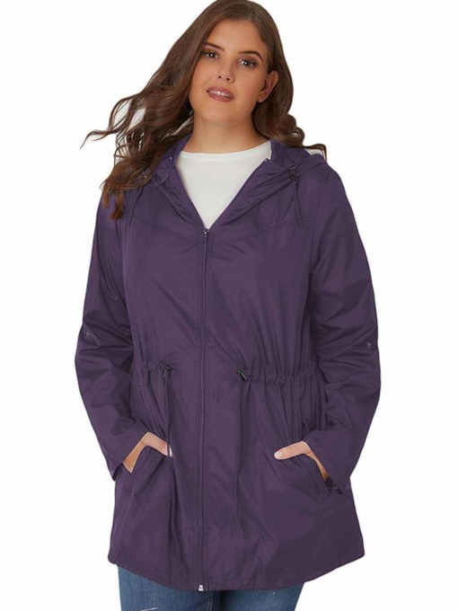 Women's Plus Size Quick Dry With Hood Long Sleeve Jacket