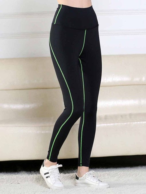 Women's Plus SizeStripe Sports Leggings