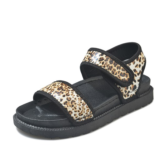 Velcro Open Toe Ankle Strap Chunky Sandals