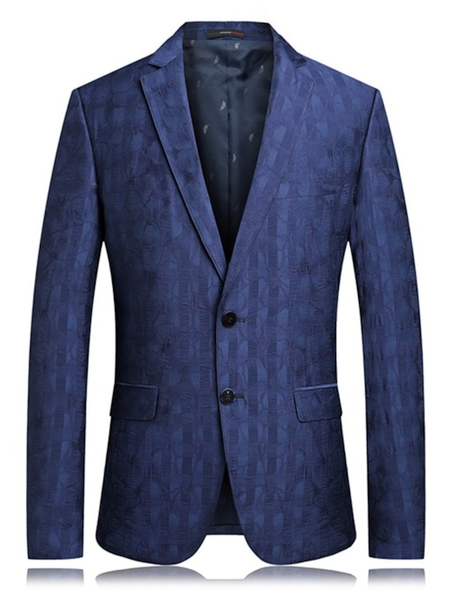 Plain Casual Notched Lapel Single-Breasted Men's leisure Suit