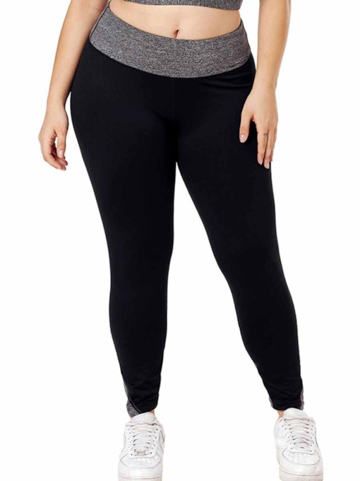Women's Plus Size Color Block Sports Leggings