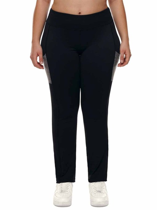 Women's Plus Size Color Block Cotton Sports Pants
