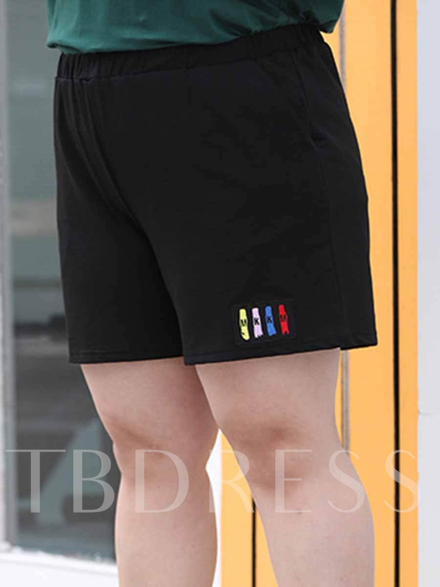 Women's Plus Size Polyester Pockets Summer Sports Shorts