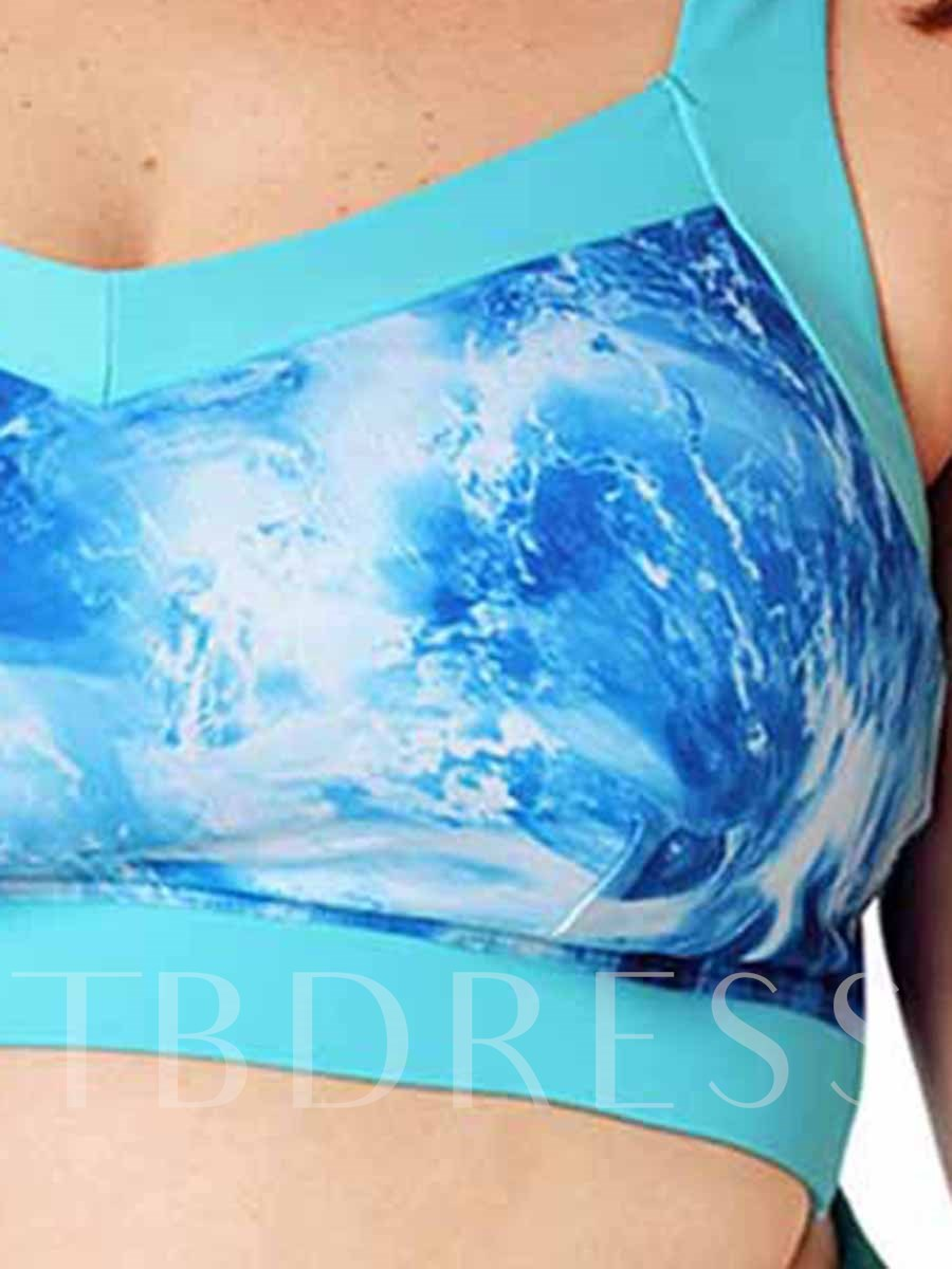Women's Plus Size Full Cup Colorful Sports Bra