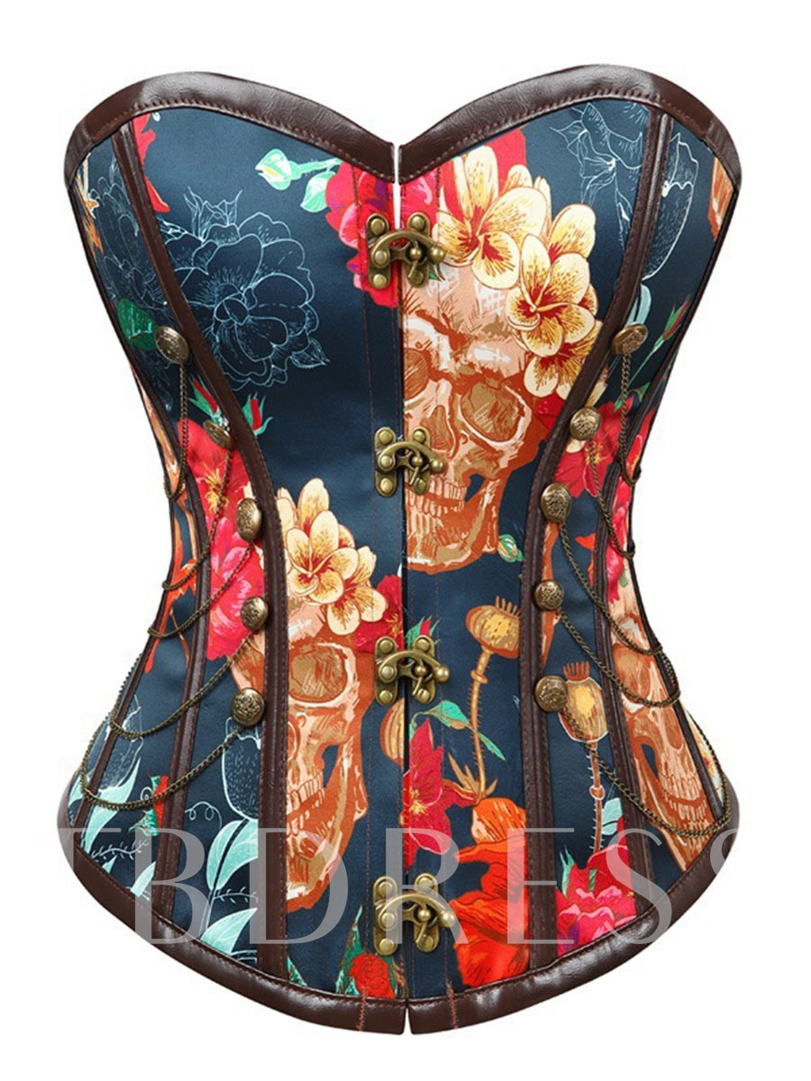 Gothic Floral Chain Women's Corset