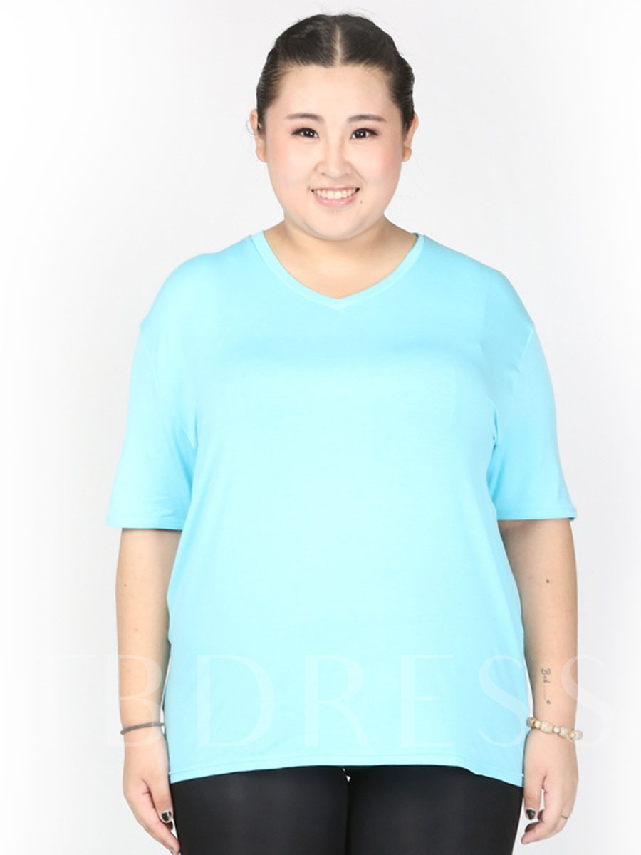 Women's Plus Size Loose Short Sleeve Sports T-shirt