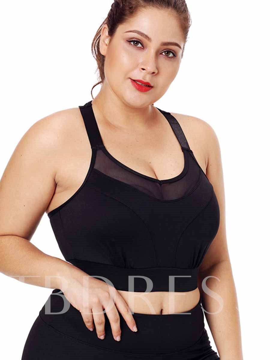 Women's Plus Size Shockproof Free Wire Full Cup Sports Bra