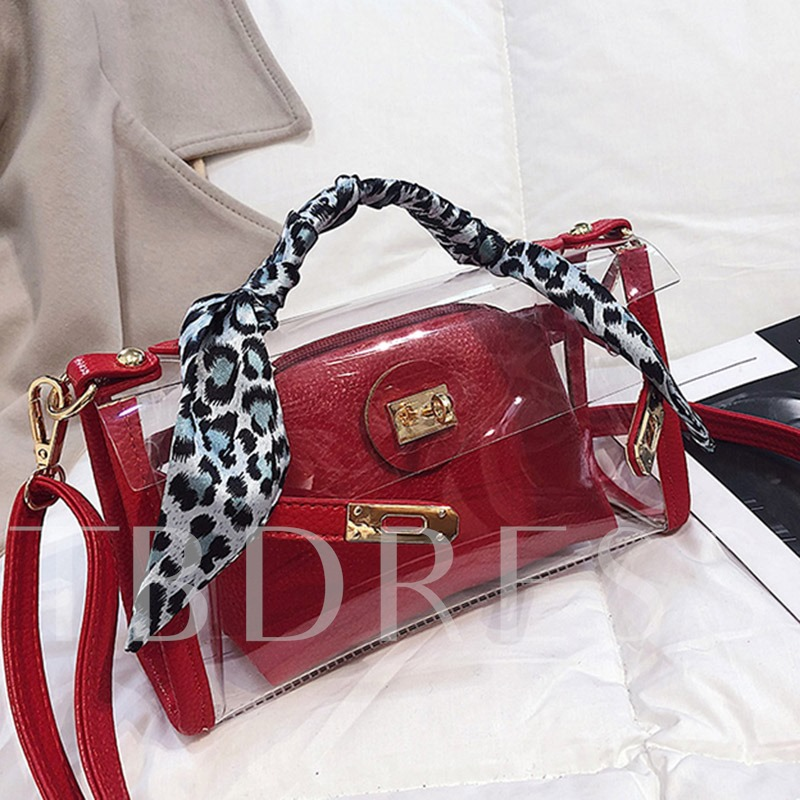Thread PVC Rectangle Tote Bags
