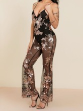 Full Length Strap Western Color Block Skinny Women's Jumpsuit