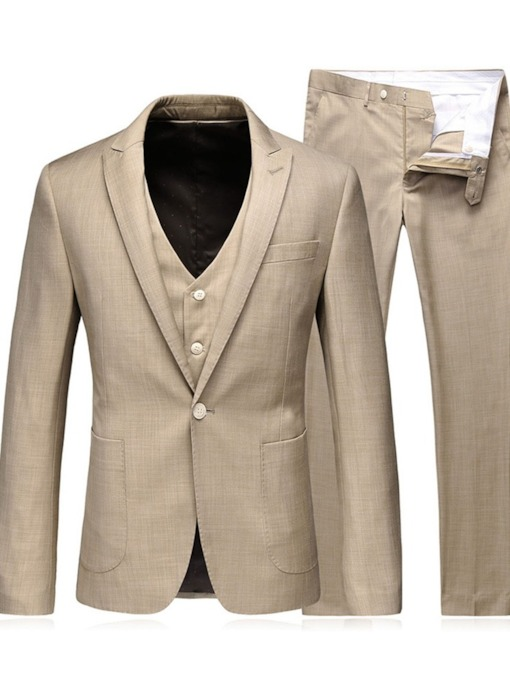 Blazer Fashion Pocket Color Block Men's Dress Suit