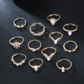 E-Plating Alloy Vintage Anniversary Rings