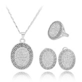 Vintage Diamante Earrings Anniversary Jewelry Sets
