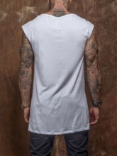Print Sports Letter Round Neck Wrapped Men's T-shirt