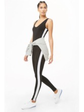 Stripe Backless Sexy Yoga Women's Bodysuit