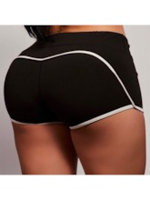 Stripe Color Block Breathable Women's Sports Shorts
